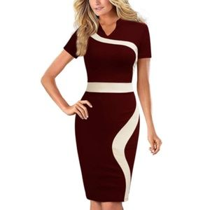 One Piece Office Wear to Work Pencil Dress
